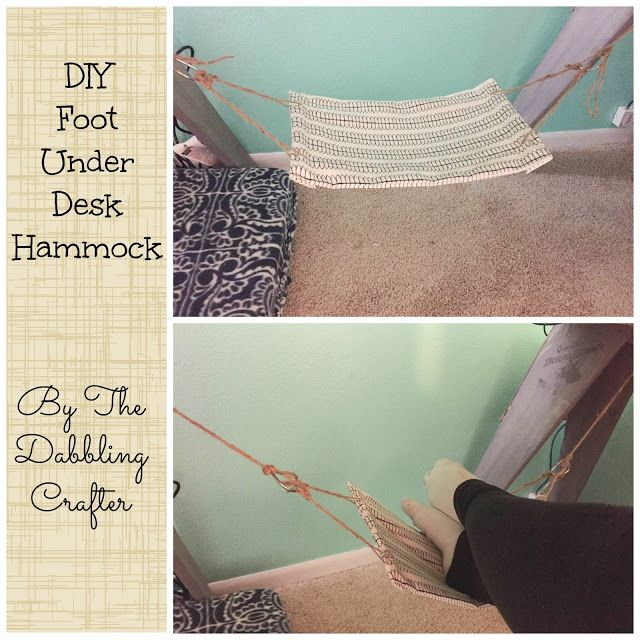 Diy Sunday Diy Foot Under Desk Hammock Diy Desk Decor Diy Hammock Diy
