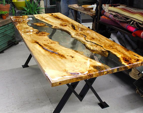resin river dining table resin rivers and ads. Black Bedroom Furniture Sets. Home Design Ideas