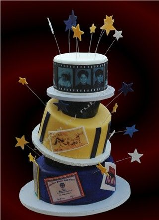 Topsy Turvy Tiered Cake Made With Fondant For A Dear High School Grad