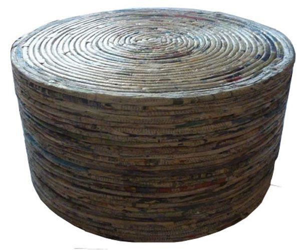 Recycled Newspaper Crafts   ... Recycled Paper Round Table Design by SEMESTA Recycling   JOGJA CRAFTS