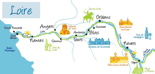 carte loire à vélo La Loire à vélo : chateaux, patrimoine de l'Unesco à découvrir à