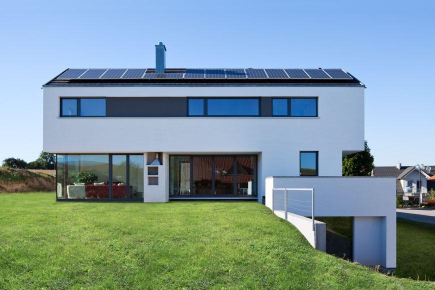 Haus W Ansicht Süd - HAUS W Sulzfeld | Fensterband | Pinterest ...