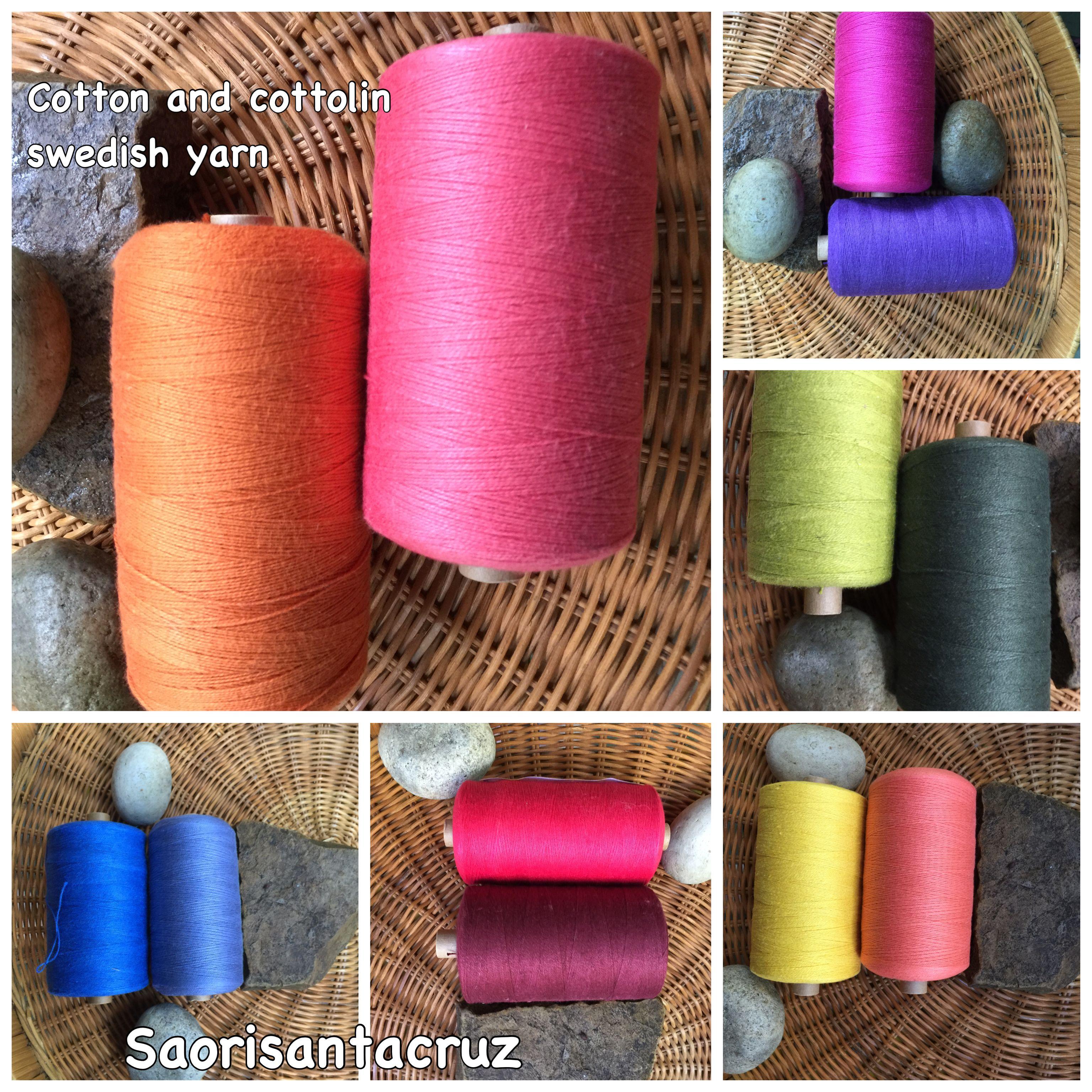 saorisantacruz Organic cotton and cottonlin 15 cone weaving yarns setweaving rainbows