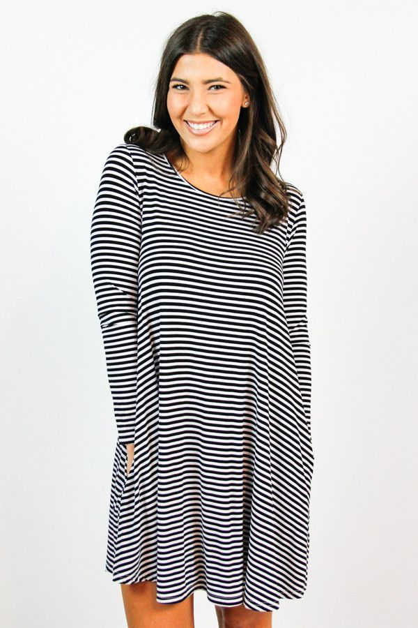 e0ad23ac8ea4c0 Piko Black and White Pocket Dress. Find this Pin and more on The Impeccable  Pig ...