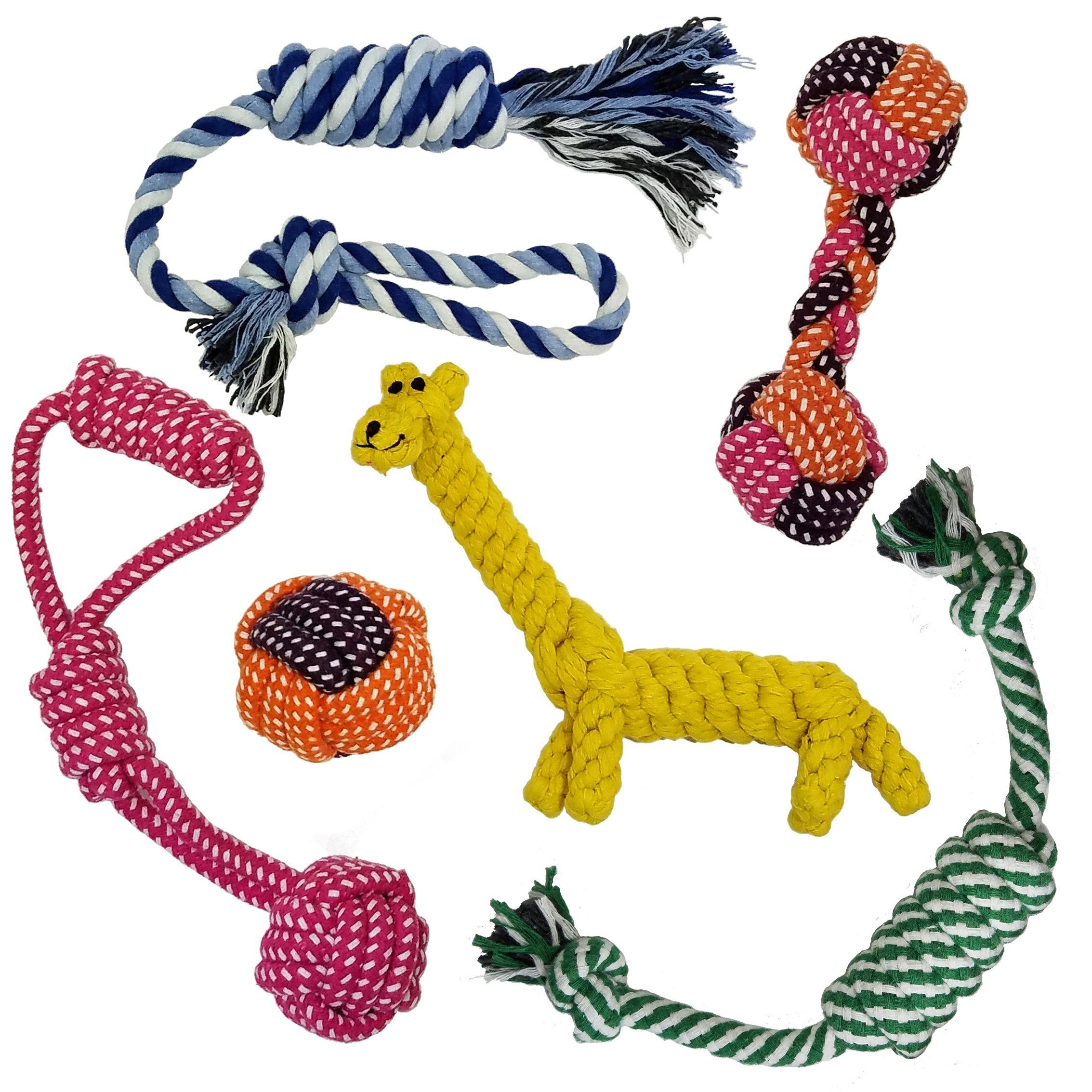 Rope Dog Toys By Leo Pets 6 Pack For Puppies Small To Medium Dogs