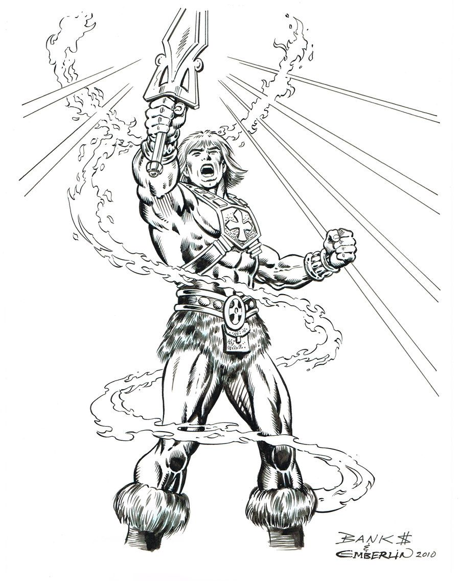 masters of the universe coloring