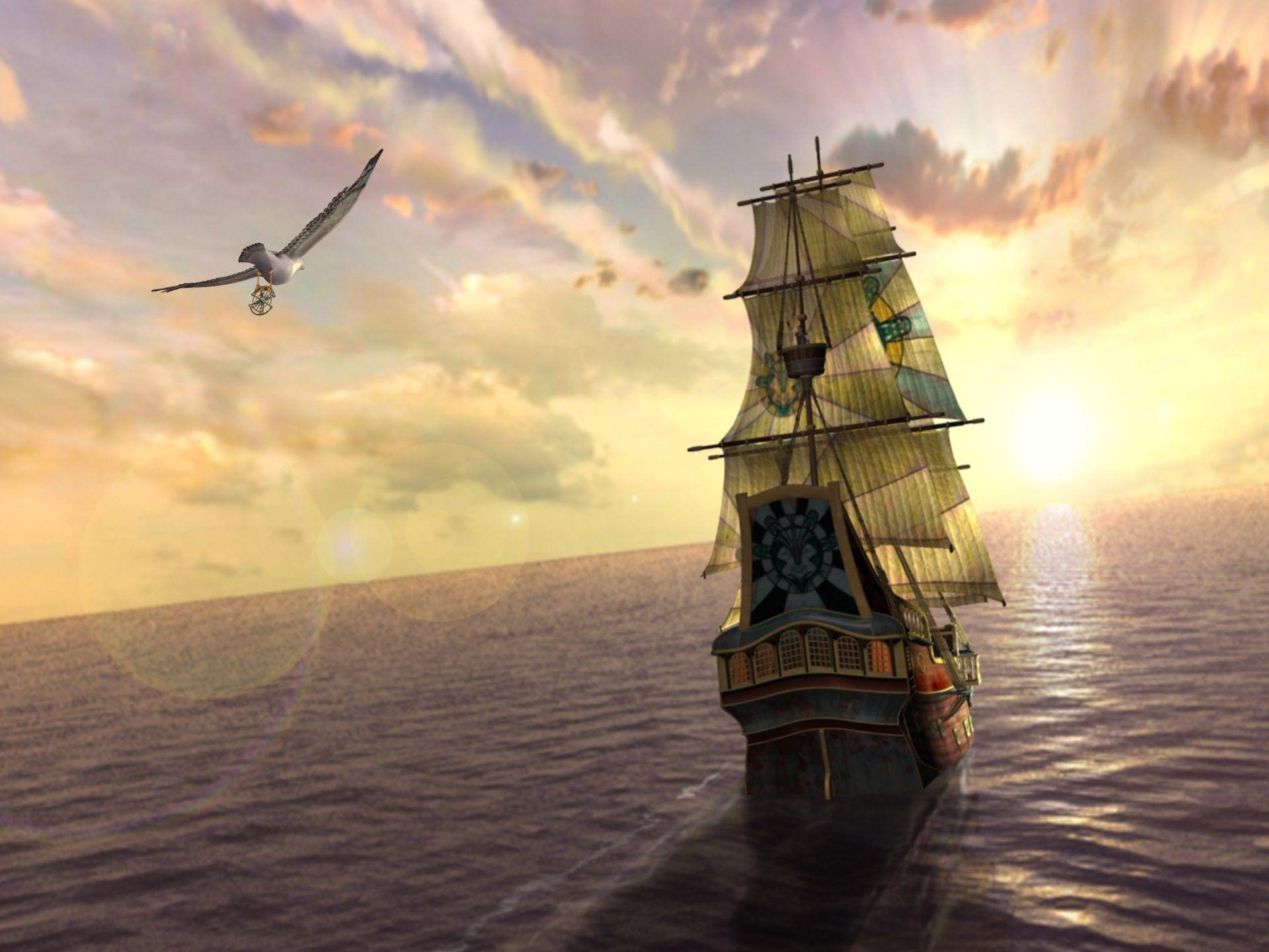 Скачать бесплатно обои для рабочего стола парусные корабли ...