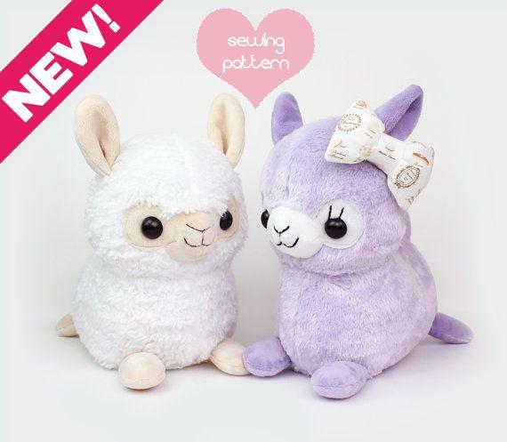 PDF sewing pattern - Alpaca Llama stuffed animal - kawaii plush ...