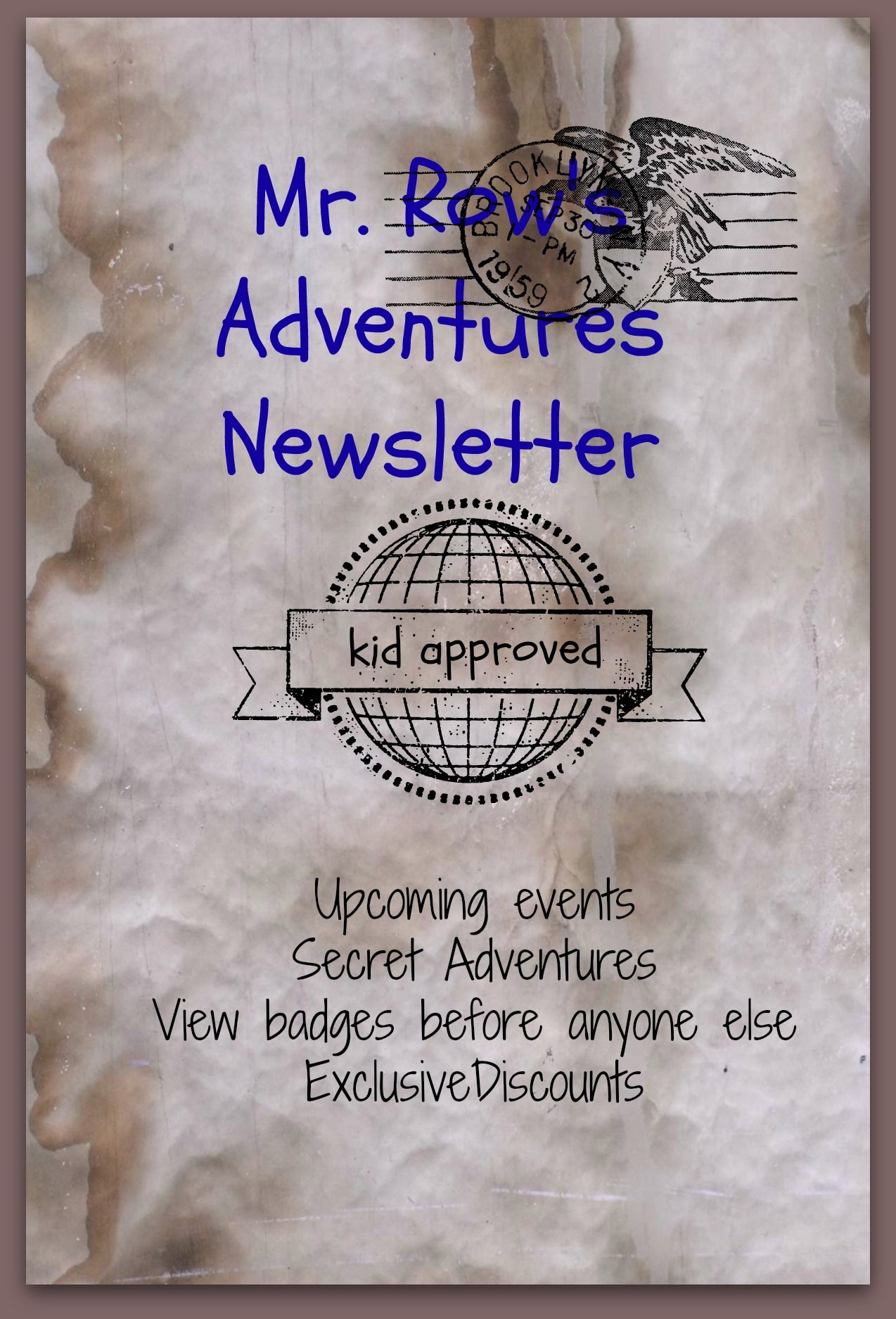 Sign Up Now For Mr Row S Adventures Newsletter Don T Miss