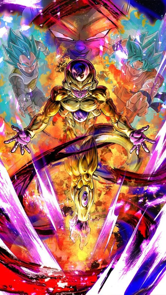 dragon ball super goku, vegeta, golden frieza