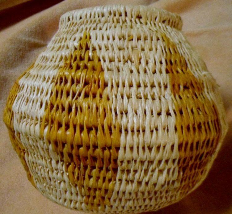 Vintage Wounaan Embera Woven Basket-Panama 105748