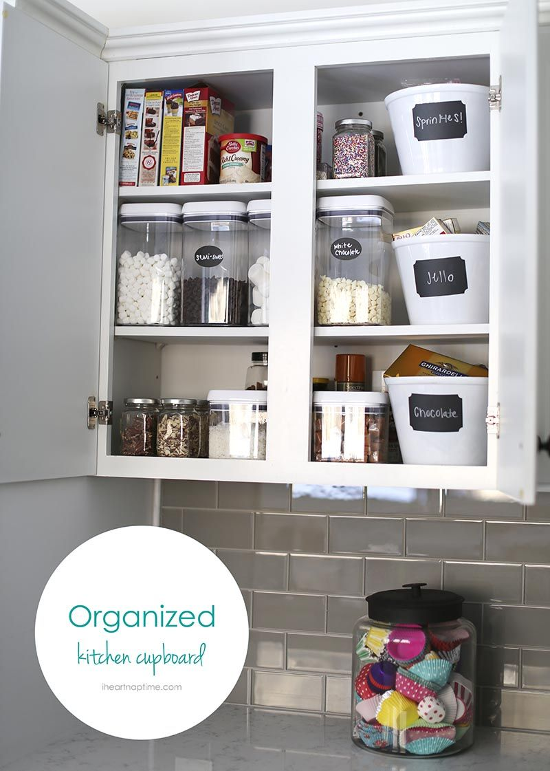Organized kitchen cupboards love those containers ocd