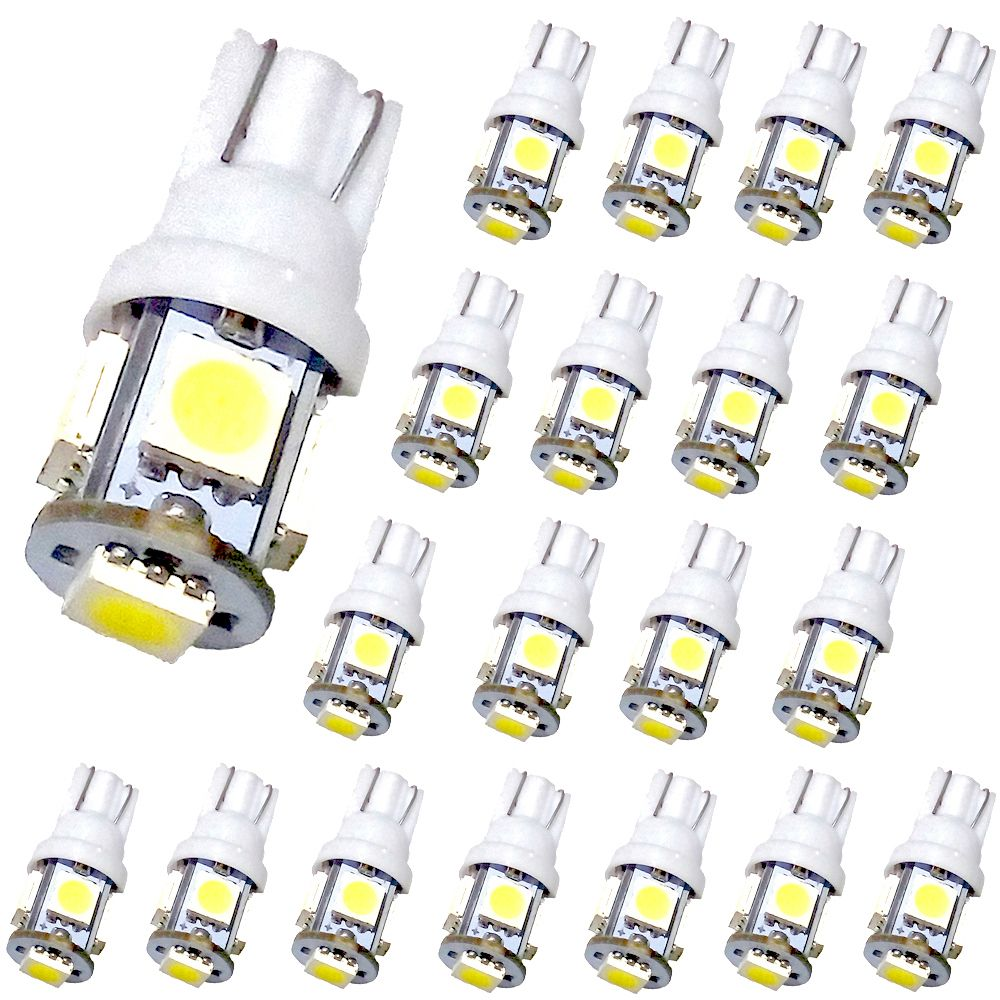 T10 Led Light Bulb White Muhize 6000k Super Bright Dc 12v 5smd 2018 New Design Replacement W5w 194 168 2825 Lamp For Car Rv Interior Map Dome Lights 2 Ye