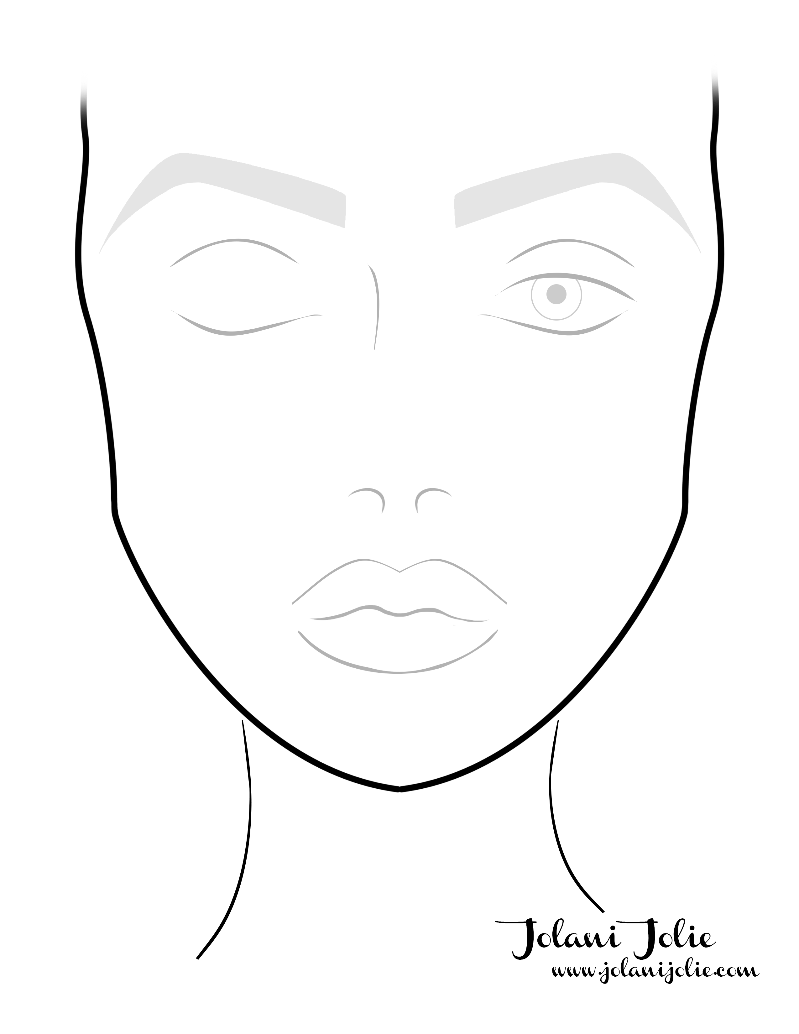 Free Face Chart Download Lanijolie