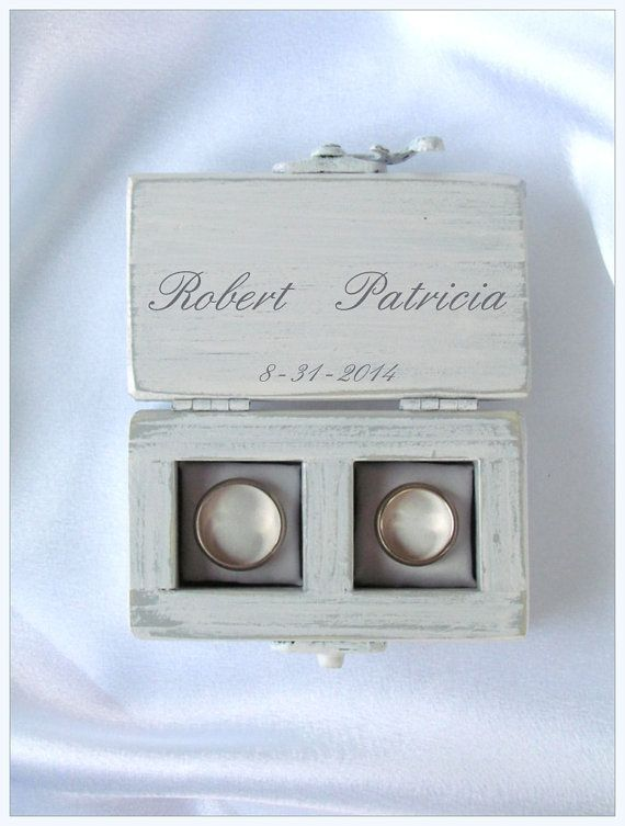 Double Ring Box Wedding Ring Box Personalized Rings Box Ring