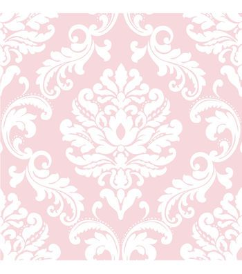WallPops®NuWallpaper™ Pink Ariel Damask Peel And Stick Wallpaper