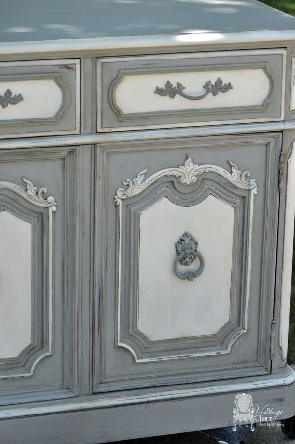 Painted Thomasville Hutch By Vintage Charm Restored