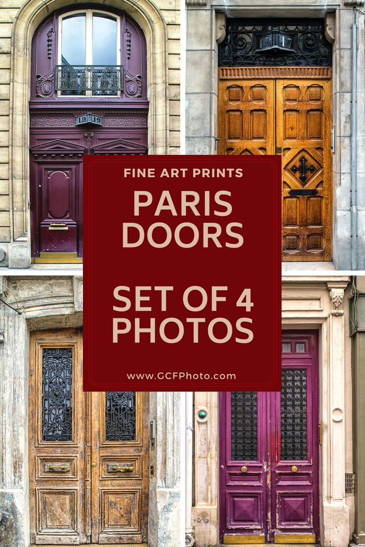 Paris door art set of photos paris decor for living room art