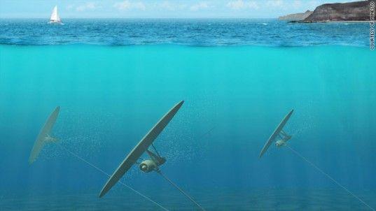 Underwater Kite Turbines Harvest Energy from Ocean Waves by Minesto #Energy #Ocean_Waves #Minesto