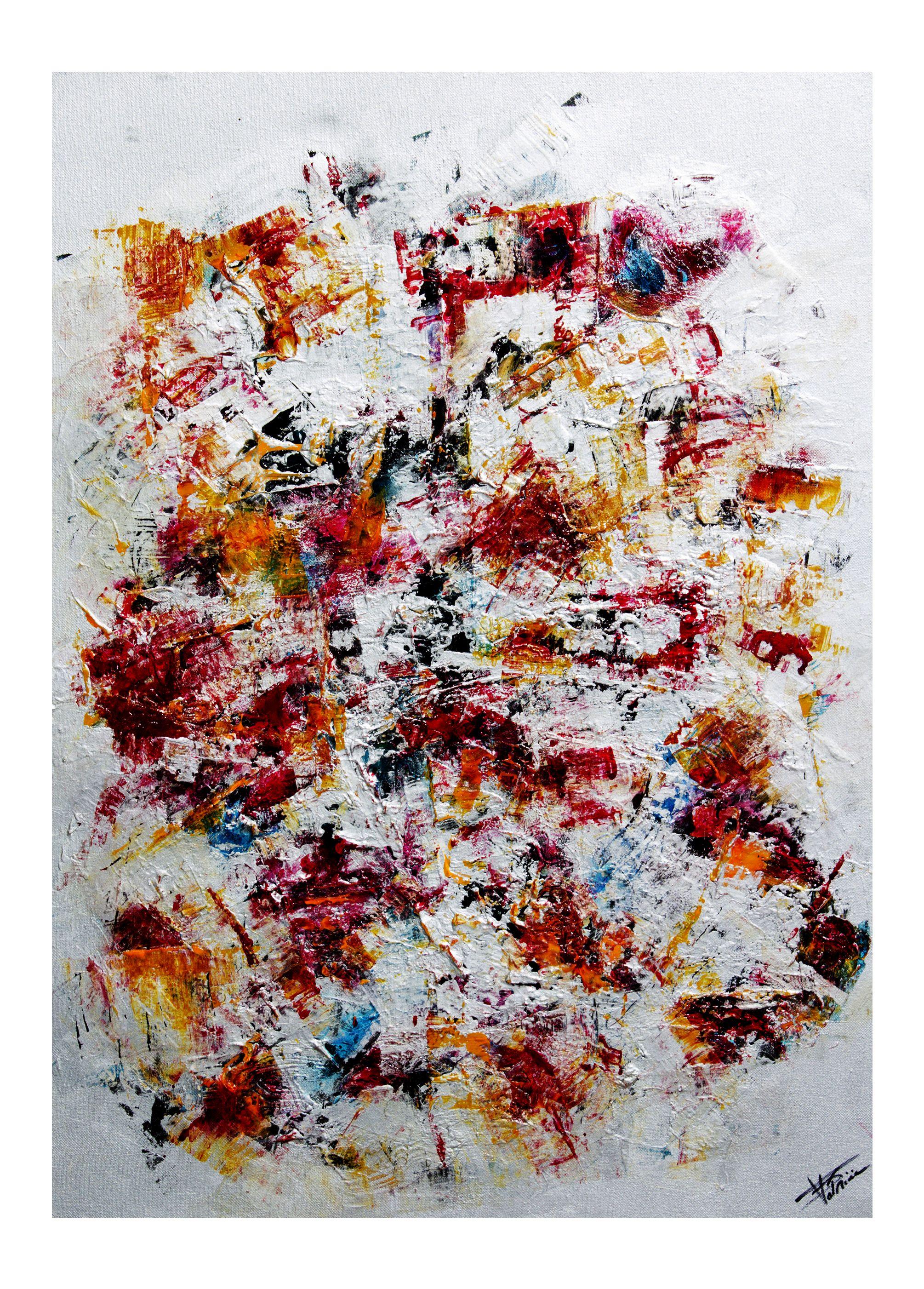 Peinture, Art Abstrait, Technique Acrylique, Vitrail U0026 Glycéro