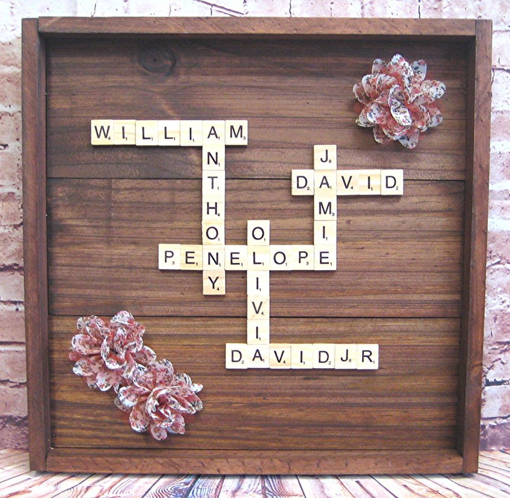 Framed Scrabble Letters Wall Art Shadow Box Frame Personalize And Customize Letter Wall Art Scrabble Wall Art Letter A Crafts