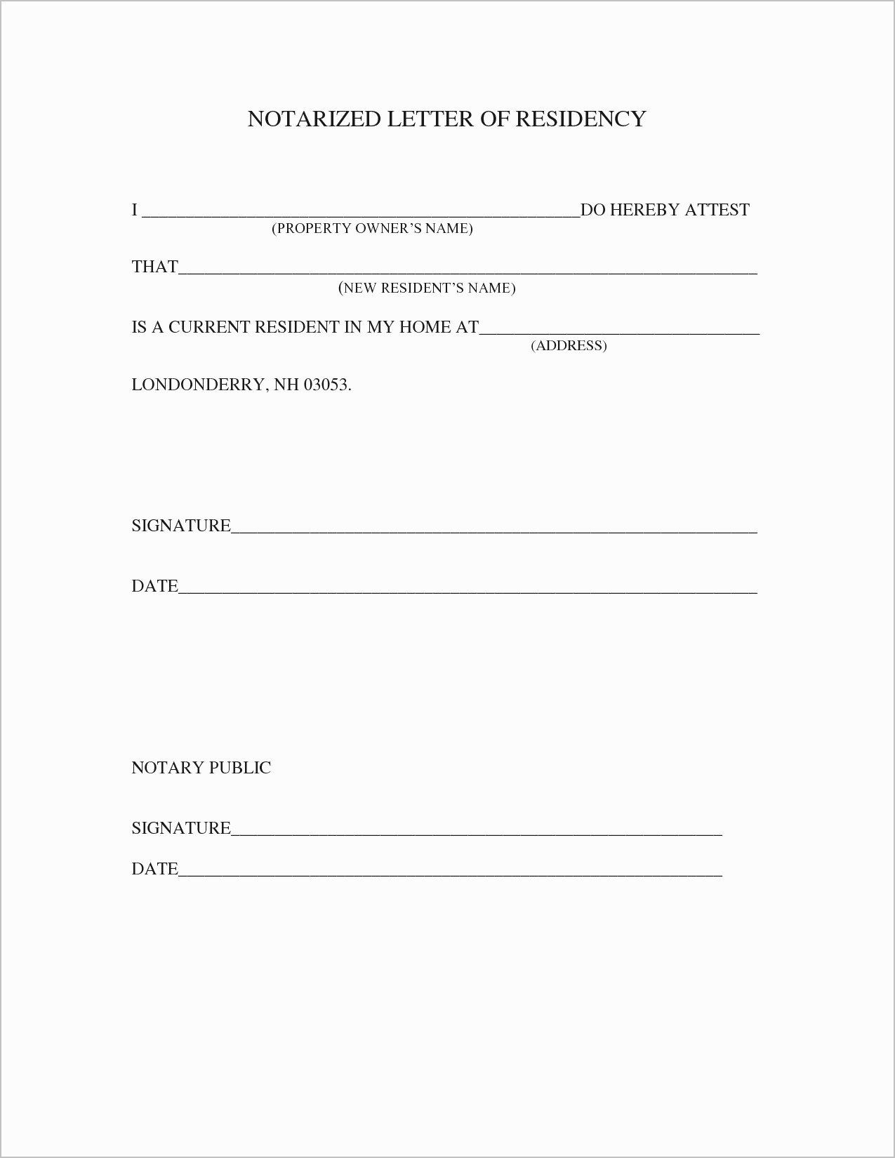 Notarized Letter Template Word Lovely Proof Residency Letter Template Pdf Samples Letter Template Word Letter Templates Lettering