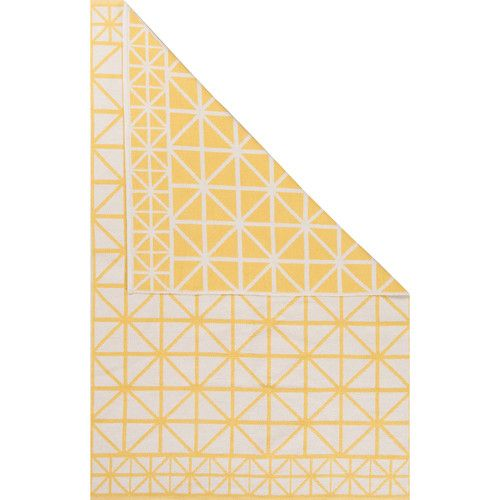 Found it at Wayfair - Graphic Yellow/Ivory Area Rug