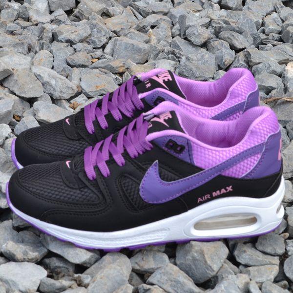 nike air max flyknit 2015 unisex spor ayakkabı black/purple hair