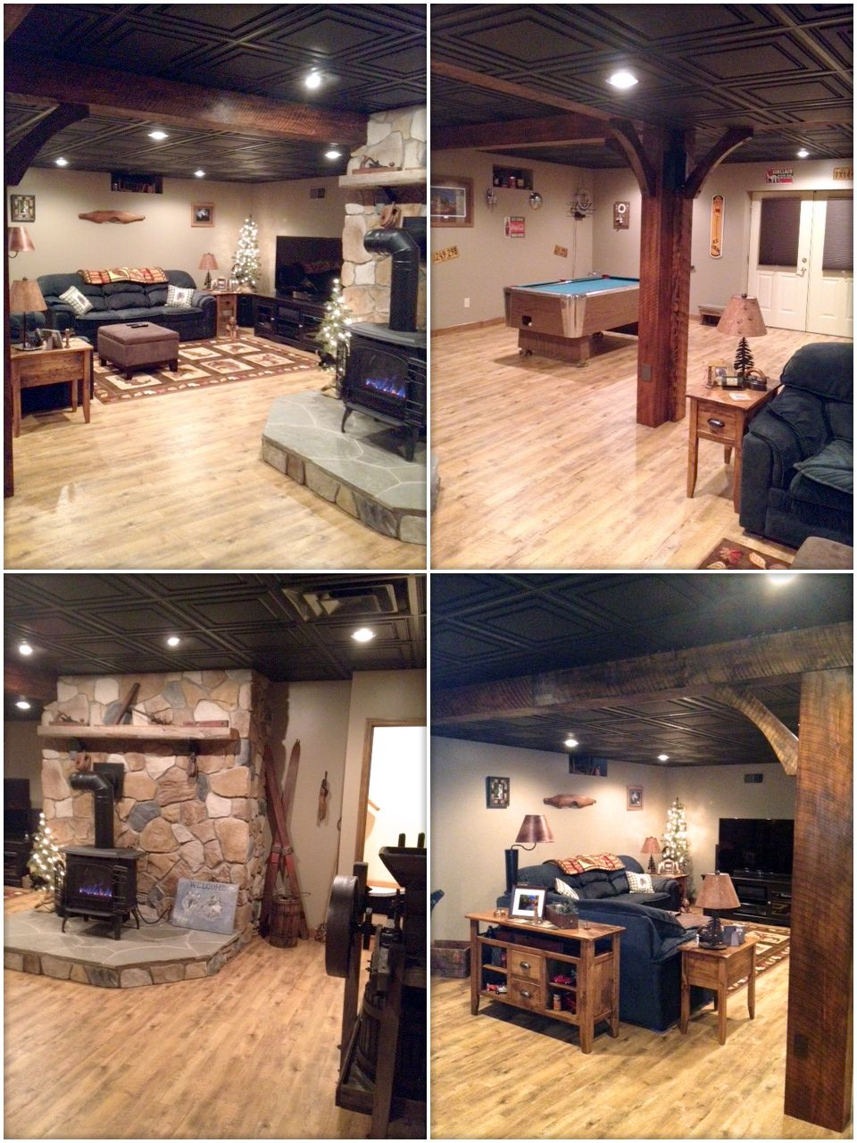 Ceiling Tiles And Panels Man Cave Basement