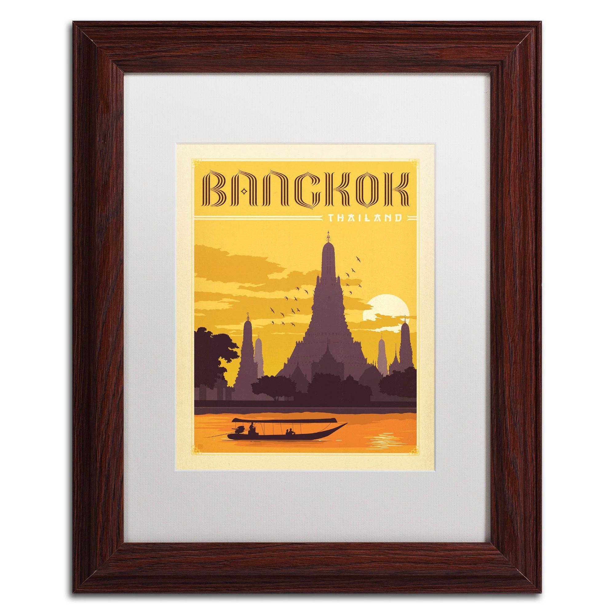 Bangkok, Thailand\' by Anderson Design Group Framed Vintage ...