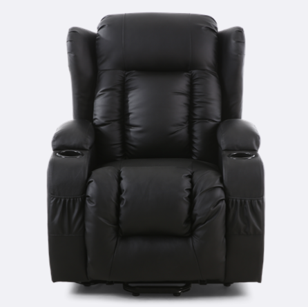 Rockingham Leather Rise Recliner Chair With Massage And Heat In Black Recliner Chair Recliner Chair