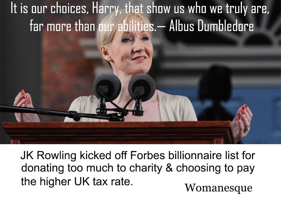 JK Rowling knocked off billionaire list for giving...