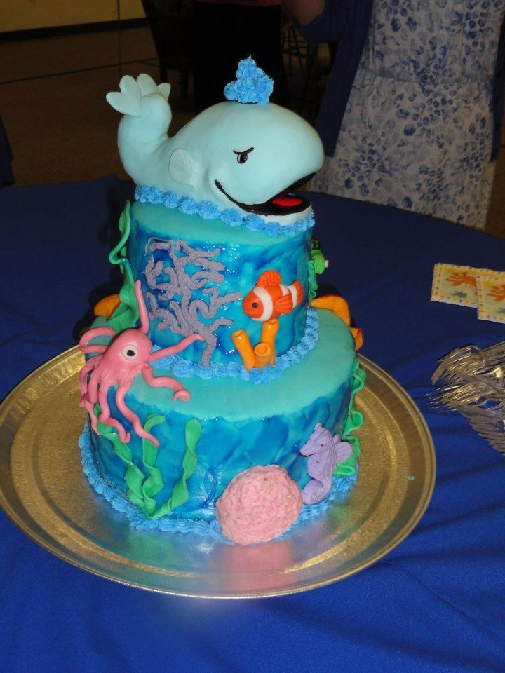 Under The Sea Baby Shower Cake Edible Animals Including