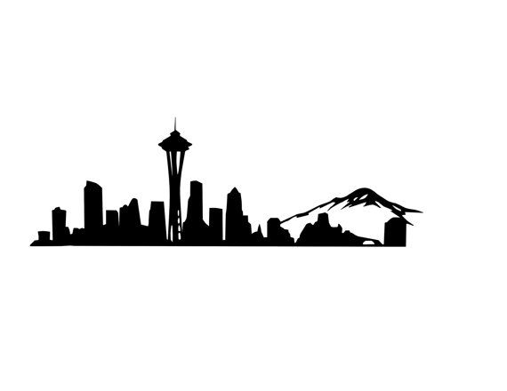 Seattle Skyline Decal Seattle Decal Space Needle | college ...