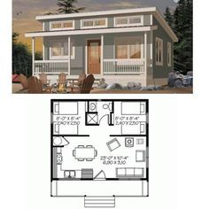 Love this tiny house - and it's just large enough for financing! and no  loft  Small House PlansBeach ...