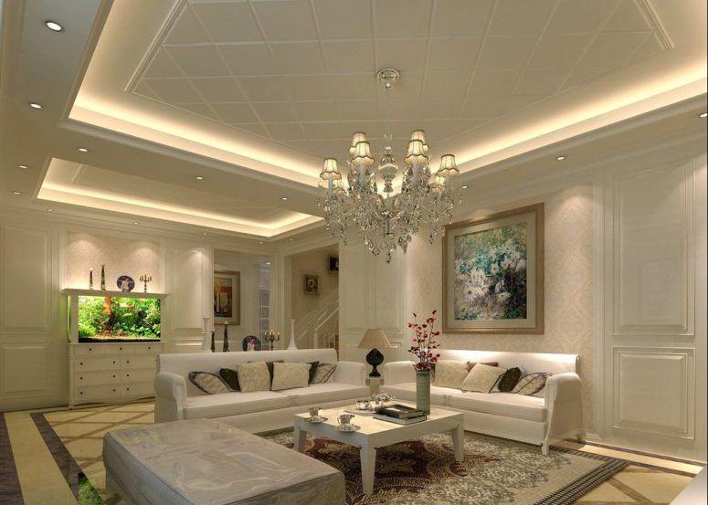 Interior, Square Shape Chandelier Vaulted Ceiling Design Ideas Mural Starry  Skyu2026