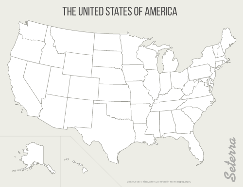Blank printable US States map (pdf) | CC Cycle 3 Geography ...