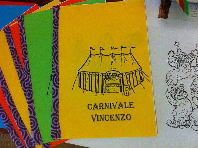 Colouring In Book Party Favours by Max-California, via Flickr