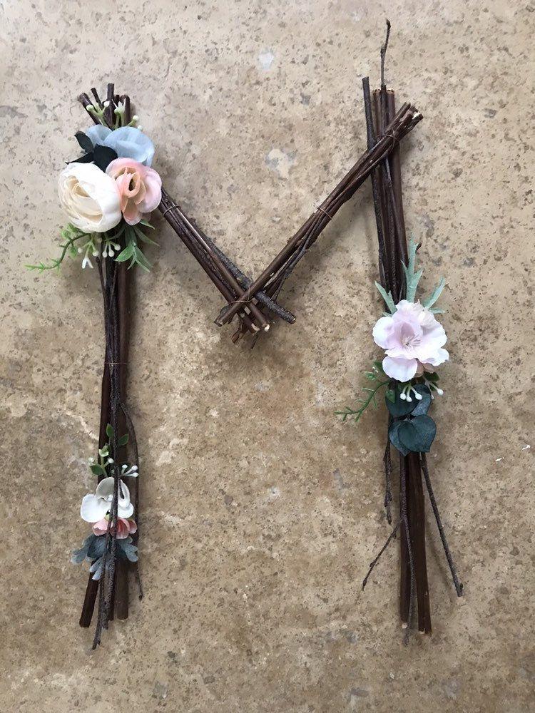 Woodland Nursery Letter Twig Letter Twig Monogram Rustic | Etsy