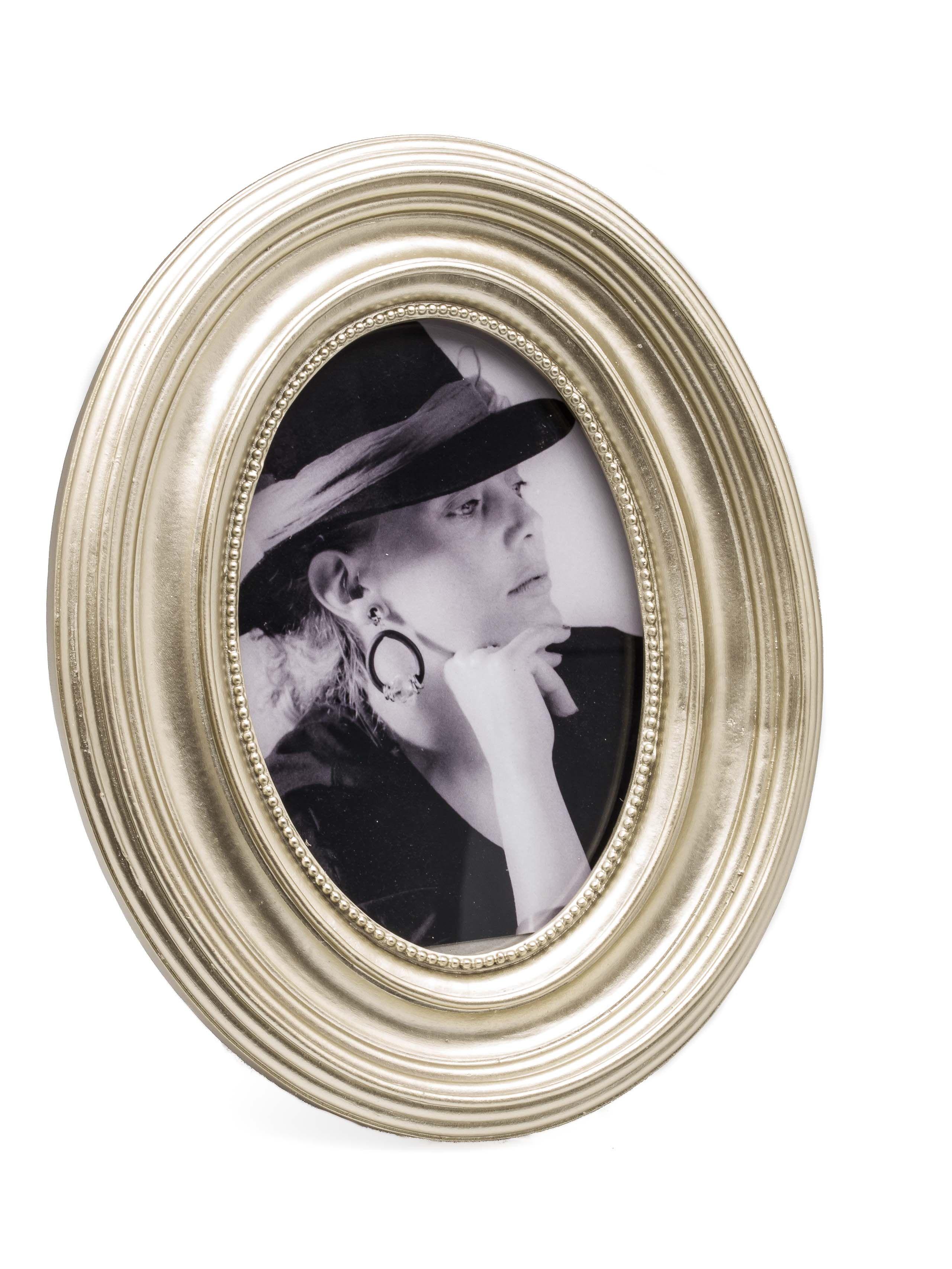 Wunderschöner silberfarbener Bilderrahmen hinter Glas, rundum mit ...