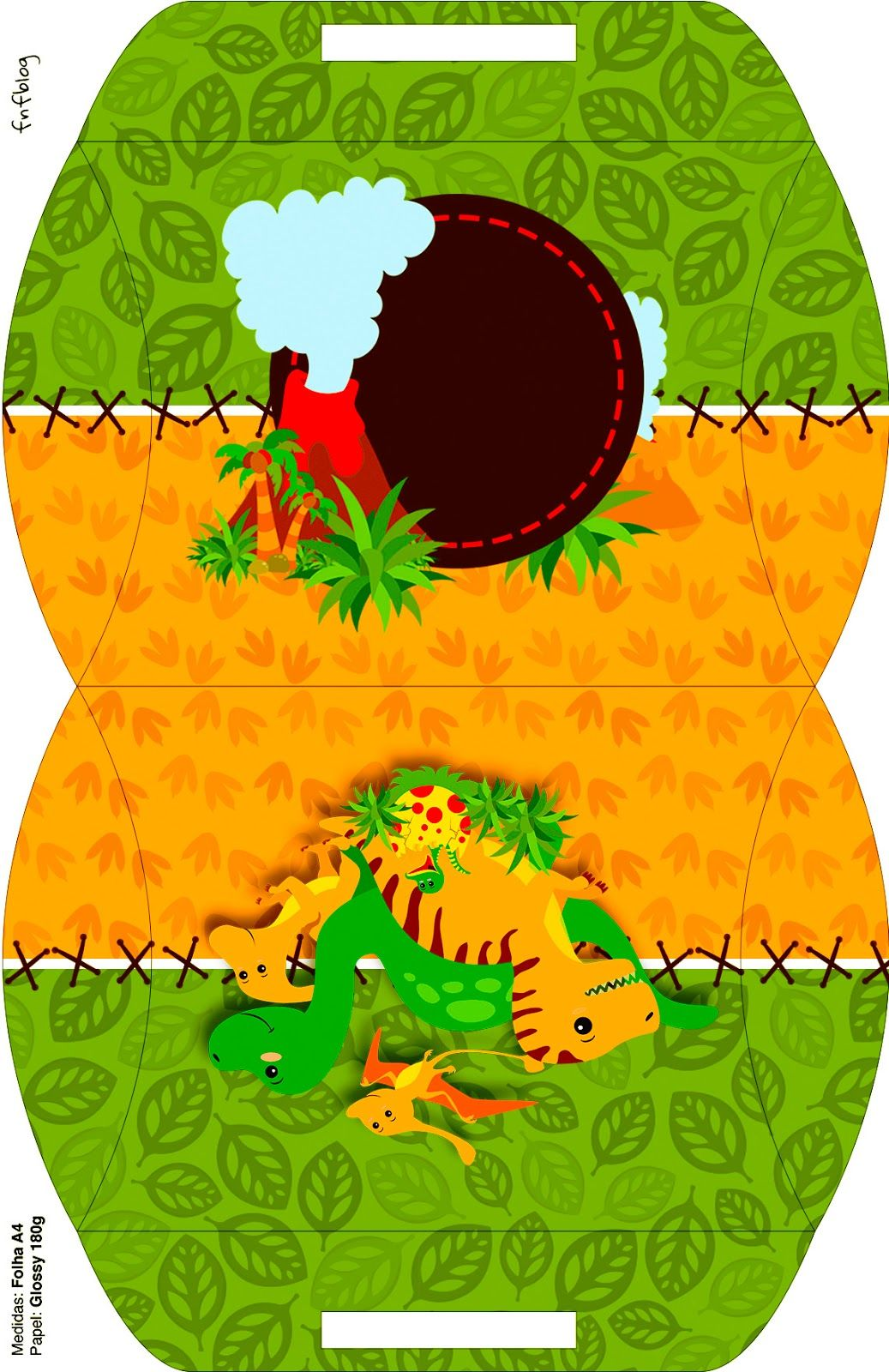 c4f86f605 Fiesta de Dinosaurios: Cajas para Cumpleaños para Imprimir Gratis ...