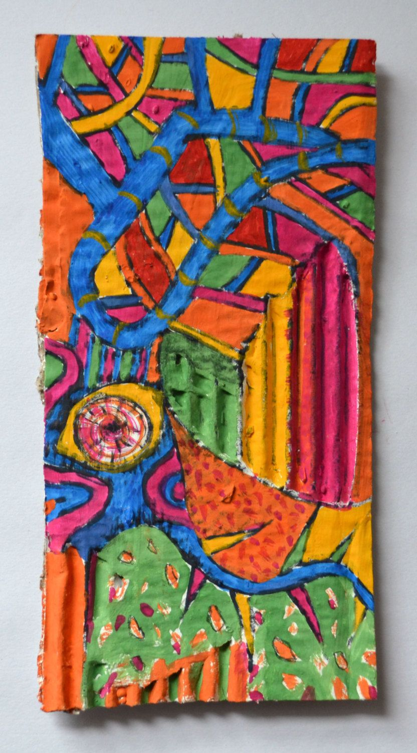Original Modern Gouache Painting Abstract Gothic