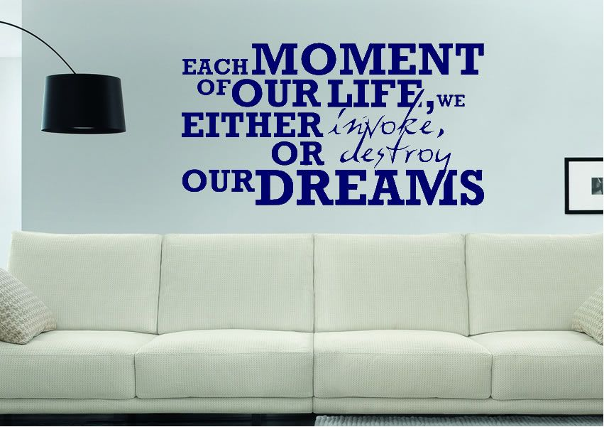 Each moment of our life motivational quotes wall stickers multiple sizes prices from 9 99 http