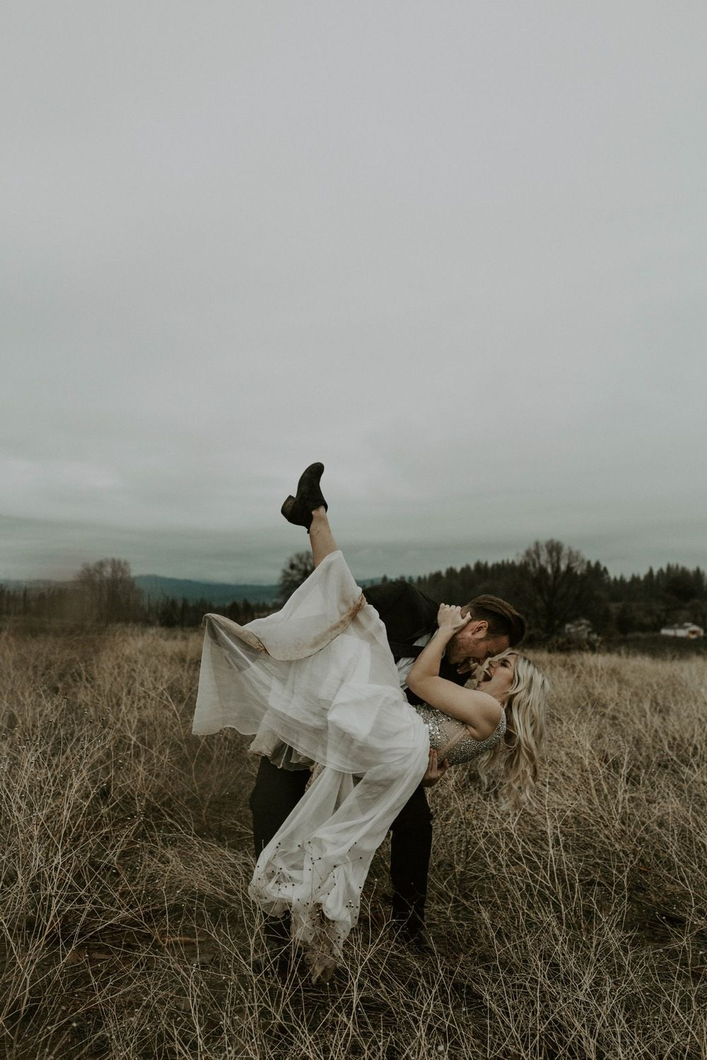 Photo of Moody Winter Mountain Forest Elopement in Northern California | Kayla Esparza Ph…