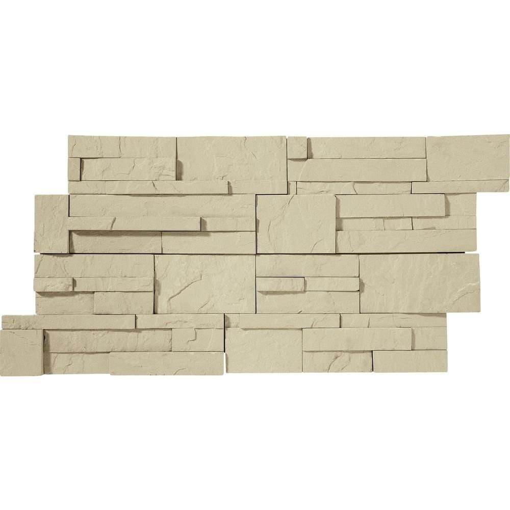 Stack Eastern Sand 7 in. x 16 in. Natural Stone Wall at The Home ...