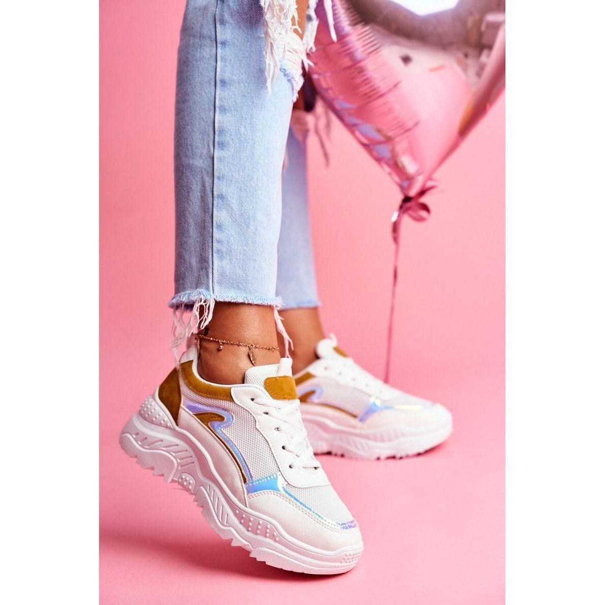 Bugo Sportowe Damskie Buty Zolto Biale Memory Zolte Sneakers Nike Nike Huarache Fashion