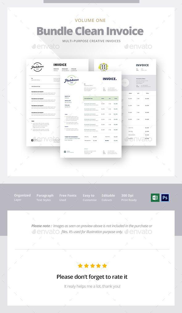Invoice Bundle Vol 1 Business proposal, Font logo and Fonts - invoice logo