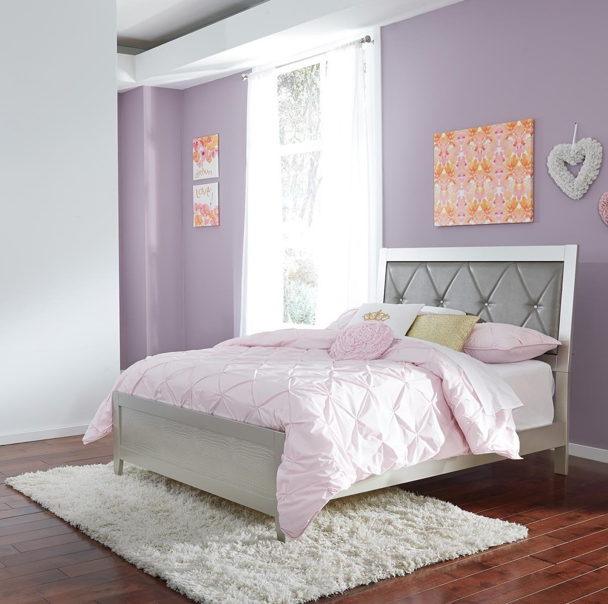 Olivet Full Upholstered Panel Bed in Silver B560F Ashley