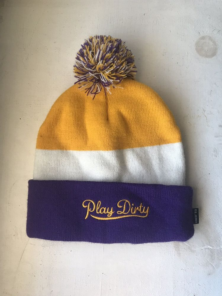 f6033e5faa657 Undefeated Purple And Yellow Play Dirty Beanie  fashion  clothing  shoes   accessories  mensaccessories  hats (ebay link)