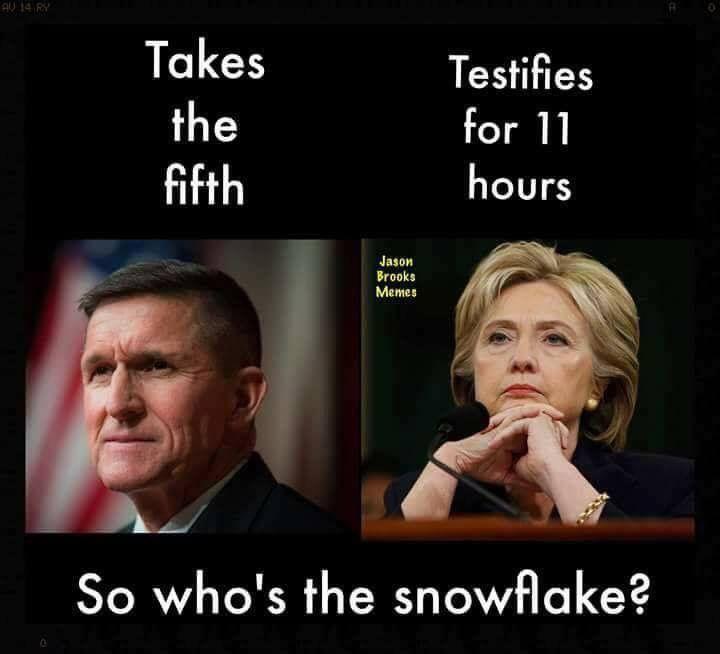Flynn vs Hillary Clinton